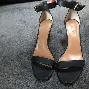 J. Crew Black Heeled Sandals Size 9.5